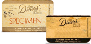 Diners Card 1950 tallet